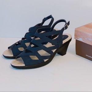 Like New, Comfort Navy Lattice Sandals